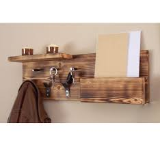 Coat Rack Organizer Entryway Organizer Coat Rack Mail Storage Hooks And Key Wooden Wall 6