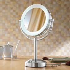 table top vanity mirrors ideas org within mirror with lights design 7