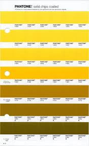 Yellow Pantone Yellow Pantone Pantone Color Chart Yellow
