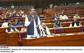 Image result for image of khaqan abbasi in assembly