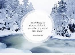 wallpaper with winter snow quote
