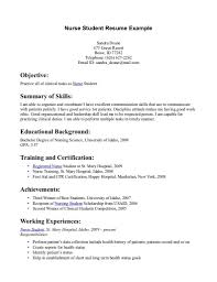 Nursing Student Resume Nursing Student Resume Template Simple