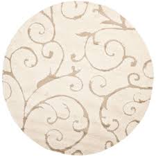 safavieh florida cream beige 9 ft x 9 ft round area rug