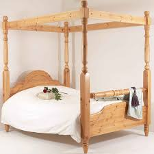 Four Poster Bed Realwoods Solid Pine Bed The Classic Rail Four Poster Double