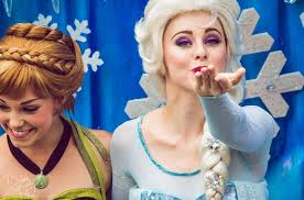 anna and elsa frozen at disney world