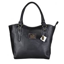 Coach North South Logo Medium Black Satchels DWH