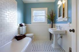 Nicholas watt example of a trendy white tile and subway tile powder room design in sydney with a vessel sink and gray countertops horizontal stack. 8 Bathroom Design Remodeling Ideas On A Budget
