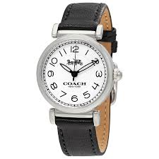 coach madison white dial las leather watch 14502860