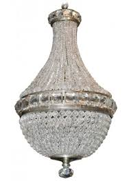 petite french crystal basket chandelier