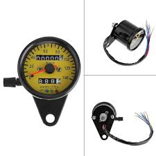 Yellow Light On Speedometer Details About Yellow Universal Led Backlight Motorcycle Metal Odometer Km H Speedometer Gauge