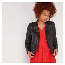 out of stock faux leather jacket