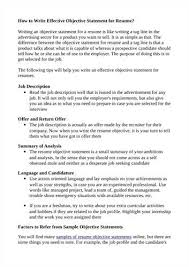 25 Beautiful How To Write The Objective In A Cv