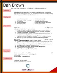 Resume Template Teacher Resume Templatescher Cv Template Word Microsoft Free 8