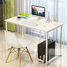 office working table.  Table Tekkashop GDOT1358B Wooden Study Desk Laptop Table Home Office Working  With Steel Legs 120cm X 55cm 90cm Beige On R