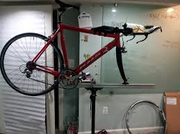 professional race euro style bicycle repair stand on the diy