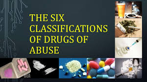 Drug Classification Chart Enchanting The Six Classifications Of Drugs Of Abuse Grade 44 Mapeh Health Les