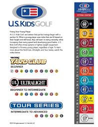 Junior Club Length Chart Golf Club Fitting Guide U S Kids Golf