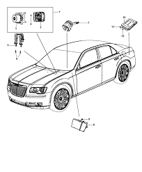 2014 chrysler 300 modules brake suspension steering diagram i2300110