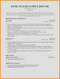 Bank Teller Resume Examples Impressive Bank Teller Responsibilities For Resume Beautiful Bank Teller Resume