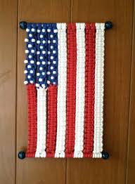 american flag wall hanging flag macrame wall hanging modern macrame by