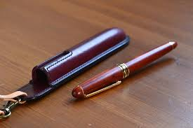fountain pen case with strap leather products yoshii pencil cases i