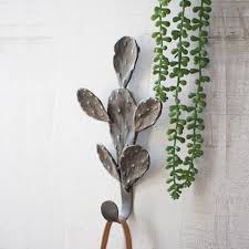 cast iron cactus wall hook styled
