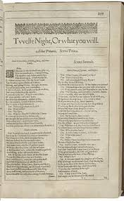 twelfth night the title page of twelfth night from the 1623 first folio