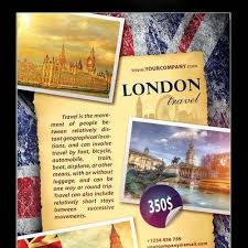 Download London Travel Flyer Psd Template For Free Uxfree Com