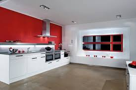 Kitchen Cabinets Red And White Picture Of Modern Red And White Kitchen Cabinets