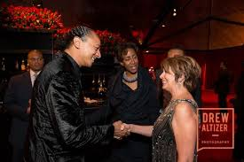 Frederic Yonnet with Karla Sims and Nancy Pelosi