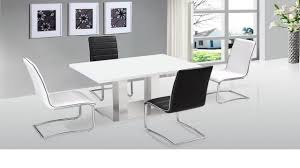 ultra modern white high gloss dining table   chairs homegenies