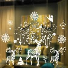 2016 Merry Christmas Snow Flake Shop Window Or Glass Background Decoration  Removable Art Design Murals Stickers Decoration Gift House With Christmas  ...
