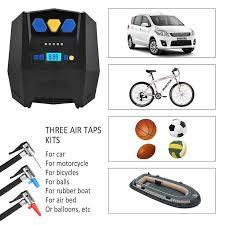 electric air pump for balls. air compressor portable digital tire inflator with gauge 12v electric pump for car tires, balls k
