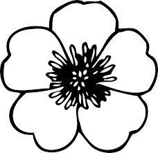 simple flower clipart black and white jpg free