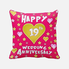 unique 19th wedding anniversary gift 12th wedding anniversary gift printed cushion with filler