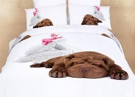 queen fun design bedding dog animal print duvet cover set dolce mela dm489q