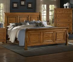 Vaughan Bassett Reflections Pine Sleigh Bed VB540SleighBed 2 Raw ...