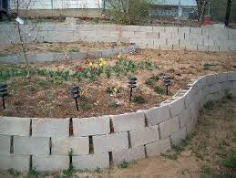 cinder block garden wall. Cinder Block Retaining Wall With Sutaible Link Materials Garden E