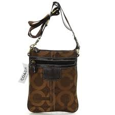 Coach Legacy Swingpack In Signature Small Coffee Crossbody Bags