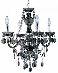 antique smoked acrylic chandelier
