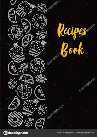 recipe book cover template downloads recipes book cover typography poster template text food symbols