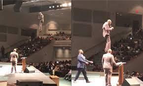 The flying preacher: Pastor flies in ...
