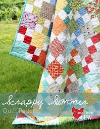 231 best Free Quilt Patterns images on Pinterest | Quilting ... & FREE PATTERN: Scrappy Summer Quilt (from Cluck Cluck Sew) Adamdwight.com