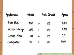 Circuit Breaker Amp Chart The 3 Best Ways To Determine Amperage Of Circuit Breaker