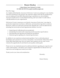 best quality assurance cover letter examples livecareer quality assurance job seeking tips