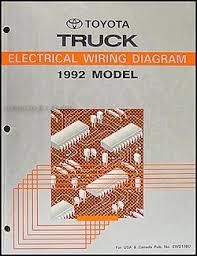 1992 toyota pickup wiring diagram 1992 image 1992 toyota truck wiring diagram manual original on 1992 toyota pickup wiring diagram