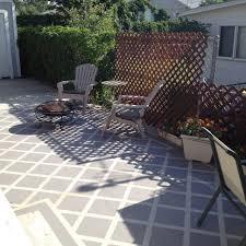 painted patio floor concrete patio