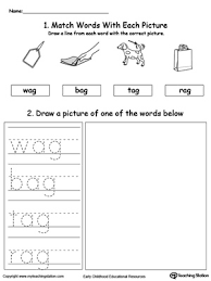 The cards can be cut out if desir. Ag Word Family Phonics And Writing Practice Myteachingstation Com