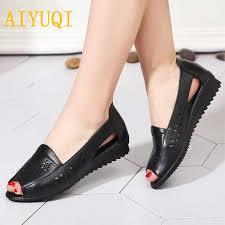 <b>AIYUQI</b> Plus size 41#42#43# women's sandals, summer <b>genuine</b> ...