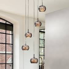 modern stairwell lighting. italian designer smoked glass pendant light modern stairwell lighting